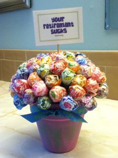 cute lollipop bouquet