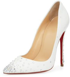 Christian Louboutin Degrastrass Leather 120mm Red Sole Pump, Moonlight