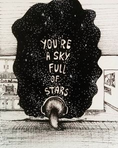 A sky full of stars // Coldplay Star Painting, Galaxy Painting, Painting & Drawing, Space Drawings, Art Drawings, The Drawing Center, Line Art Tattoos, Sky Full Of Stars, Dope Art
