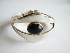 1950's Sigi Pineda Sterling Obsidian Mexican by 20thObsession, $395.00