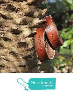 Set of 2 Couple Handmade Leather Cuff Bracelet - Personalized Wrist band Accessories, Engrave Name, Initial, GPS, Great Personalized Gifts, Minimalist #Brown from ES Corner Leather https://www.amazon.com/dp/B01HV69ZHE/ref=hnd_sw_r_pi_dp_hPk7yb3Q277B0 #handmadeatamazon