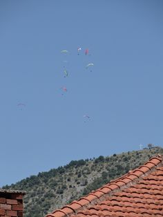 Paragliding in Konitsa, Epirus, Greece.