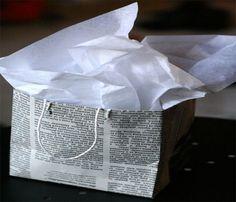 #recycled newspaper bag