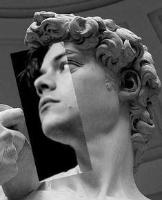 ~ simply piece of art ~ David by Michelangelo Harry Styles by Anne Twist Harry Styles Pictures, Harry Styles Wallpaper, Mr Style, Foto Art, Harry Edward Styles, Grafik Design, Surreal Art, Aesthetic Art, Vaporwave