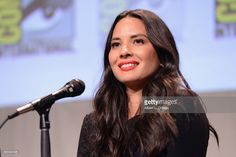 Actress Olivia Munn of 'X-Men: Apocalypse' speaks onstage at the 20th Century FOX panel during Comic-Con International 2015 at the San Diego Convention Center on July 11, 2015 in San Diego, California.