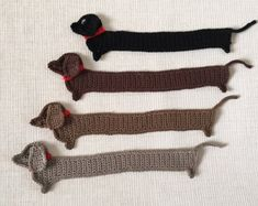Sausage dog Crochet Bookmark, Funny Dog bookmark, Handmade cute Bookmark, Crochet Dauch Hund, Crochet Mouse