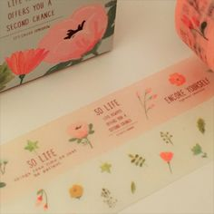 2 cute rolls of patterned washi tape, measuring approximately 15mm in width and each roll is approximately 5 metres in length.  Lots more cute washi tapes in my shop here - https://www.etsy.com/uk/shop/TheSupplyHaven?ref=hdr_shop_menu§ion_id=18758032  Tape will be taken out of the box and the box packed flat for posting.