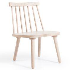 Wood lounge-tuoli H19, valkopigmentoitu tammi ryhmässä Huonekalut / Nojatuolit / Nojatuolit @ ROOM21.fi (124333)