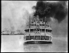 "Steamboat ""Capitol"", New Orleans, Louisiana ~ Walker Evans, 1935"