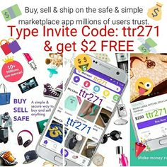 "Type invite code ""ttr271"" signing up to BUY/SELL APP Mercari & receive $2 FREE! Earn $2 for every friend you invite! https://www.mercari.com/dl/ #money #cash #credits #buy #buying #buyingandselling #sell #selling #buyandsellonline #promotions #invites #friends #negotiate #fashion #used #new #vintage #luxury #designer #garagesale #jackpot #invest #fun #heels #shoes #jordons #iphone7 #xbox1 #ps4 #sony #beats #gaming #yeezyboost #supreme #gucci #applewatch #xboxone #nike #coins #jewelry"