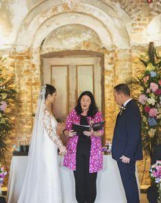 Wedding ceremony in Powerscourt House and Gardens, Enniskerry, Co Wicklow, Ireland