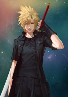 Images of the beautiful boys of the Final Fantasy and Kingdom Hearts series. Final Fantasy Xv, Final Fantasy Characters, Final Fantasy Artwork, Fantasy Series, Fantasy World, Anime Characters, Cloud And Tifa, Cloud Strife, Anime Krieger