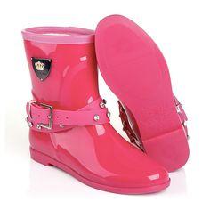 цвета фуксии женские резиновые сапоги keddo из пвх розовые (цвета фуксии) с клепками 328520/102#06
