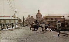 Streets of Manila circa colored; Philippines Culture, Manila Philippines, Old Photos, Vintage Photos, University Of Michigan Library, Uk Visa, Photo Essay, Time Travel, Philippines