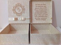 caixa casamento, caixa bordada, caixa padrinhos