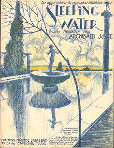 Sleeping water Art deco R.de valerio