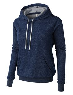 Stay warm and comfy in this basic long sleeve fleece pullover hoodie sweater. Featuring a exceptionally soft inner fleece material, this hoodie is cut for a comfortably loose fit and finished with con