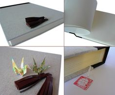 Photo album to store memories of the two ...  linen, cotton canvas, genuine leather 35x25,5, 30 pages