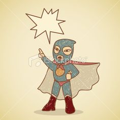 A retro angry ninja superhero making an announcement! The outline and. Free Stock, Free Vector Art, Then And Now, Fallout Vault, Outline, Superhero, Retro, World, Illustration