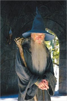 "Ian McKellen as Gandalf the Grey a. ""The White Wizard and Mithrandir"" Fantasy Concept Art, Fantasy Story, Ian Mckellen Gandalf, The Hobbit Movies, Season Of The Witch, Tauriel, Famous Movies, Jrr Tolkien, Action Poses"