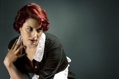 American Horror Story, Alexandra Breckenridge, Young Moira O'Hara Alexandra Breckenridge, Moira O Hara, Dylan Mcdermott, Connie Britton, American Horror Story Seasons, Horror Costume, Maid Outfit, Image Hd, Horror Stories
