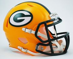 Green Bay Packers Riddell Speed Mini Football Helmet  New in Riddell Box >>> Click image to review more details.