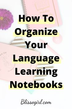 In this post I share with you my tips on how to organize your notebooks for learning any language! Learning A Second Language, Learn Another Language, Korean Language Learning, Learn German, Learn French, How To Learn English, Teaching Spanish, Spanish Activities, Learn Spanish
