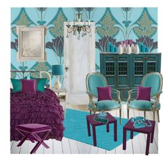Craft room color inspiration from  Polyvore