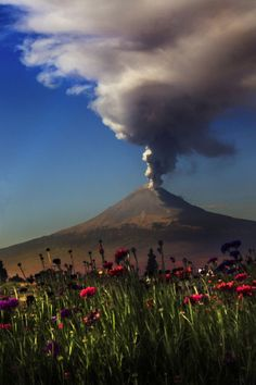 Popocatepet volcano, Mexico,