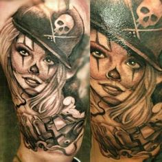 Chicana Girl Chicanas Tattoos Tattoo Designs  picture clowngirl, payasa, clown…