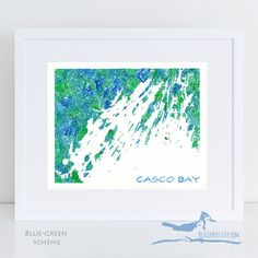 Are you looking for a unique gift for Portland, Maine area residents or couples getting married in the beautiful Casco Bay region of Maine? This Casco Bay map watercolor painting can be personalized to create an uncommon piece of art. You can create your own map title with a meaningful date, phrase, or other text (such as home is where the heart is or where it all began). You also can request specific location(s) on the map to be marked with a star, heart, or dot symbol in a contrasting…