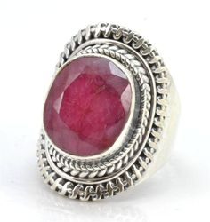 Royal Ruby Gemstone Ring Solid 925 Sterling Silver Jewelry Size 6 IR23642