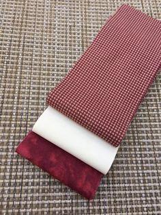 Mini  Fabric Jelly Roll- 6 Strip Pack- Burgundy/ Cream