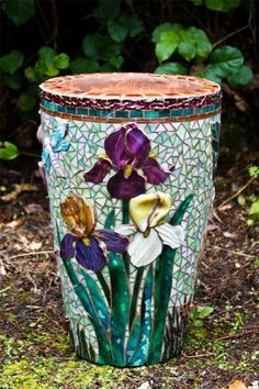 mosaic flower patterns - Google Search