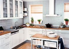 Grey kitchen tiles