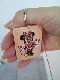 Wooden key chain Pyrography
