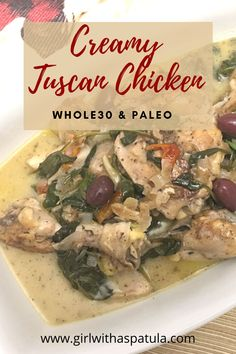 This Creamy Tuscan Chicken is Paleo and Whole30 friendly and is so easy to make. Whether you are on a round or not I guarantee that you will love the salty, sweet and tanginess of this Creamy Tuscan chicken recipe! #집밥박선생 #핵맛 #lowcarblife #quarantinecooking #suechefpty #paleo #glutenfree #eatclean #grainfree #jerf #keto #cleaneating #dairyfree #eatyourveggies #lowcarb #healing #lowlectin #plantparadoxdiet #gundrydiet #whole30recipes #healthyfood #pegan #healthy #nutrition Creamy Tuscan Chicken Recipe, Plant Paradox Diet, Dried Tomatoes, Sun Dried, Whole 30 Recipes, Food Cravings, Paleo Recipes, Food To Make, Dairy Free