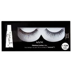 I'm learning all about NYX Cosmetics Fabulous Lashes Eyelashes Pair El126 Guilty Pleasure at @Influenster!