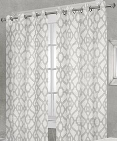 Love this Off-White Remington Sheer Grommet Panel - Set of Two by Residence on #zulily! #zulilyfinds