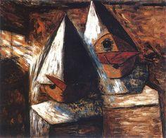 Tadeusz Makowski - Mali pierroci, 1930 Painting, Image, Art, Art Background, Painting Art, Kunst, Paintings, Performing Arts, Painted Canvas
