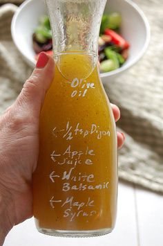 An easy way to make your own salad dressing. Write the ingredients and measurements on the bottle, then just refill as needed. By The Art of Doing Stuff, via Flickr