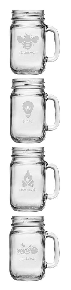 Buzzed Drinking Jar Set