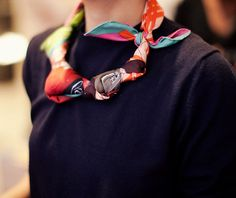 tie your scarf into a necklace!