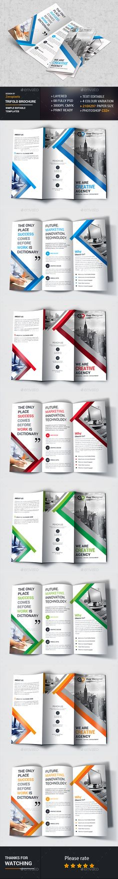 Trifold Brochure Template PSD. Download here: http://graphicriver.net/item/trifold-brochure/16874191?ref=ksioks