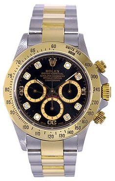 Men's Rolex Zenith Cosmograph Daytona Watch 16523 Black Dial