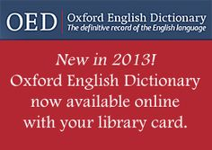 Oxford English Dictionary!
