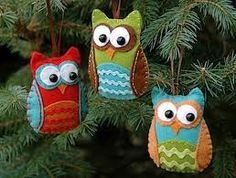 felt owls--picture only