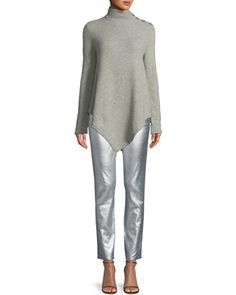 444ad49807 Long-Sleeve+Turtleneck+Cashmere+Poncho+and+Matching+Items+