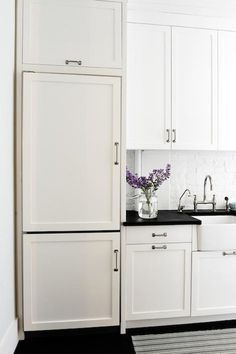 refresh refrigerator with some diy cabinetry magic