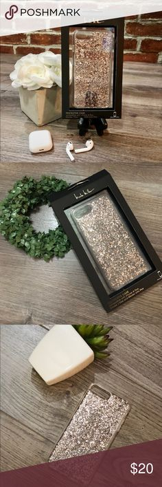 Nicole Miller iPhone 8 Plus, 7 Plus, 6/6s Case Brand New iPhone case from Nicole Miller. Case is clear with rose gold metallic flakes throughout. Compatible with iPhone iPhone 8 Plus, 7 Plus, and 6/6s Plus models.   Bundle this case with any other item in my closet and receive an additional 10% off your total purchase while also saving on shipping fees. Nicole Miller Accessories Phone Cases